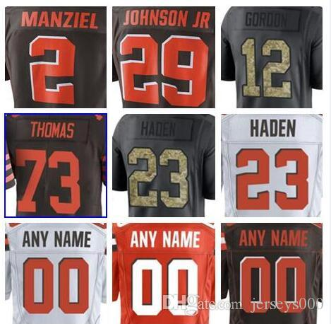2019 Custom Cleveland Myles Garrett Brown Jersey Jabrill Peppers Johnny  Manziel Salute To Service Vapor Authentic American Football Jerseys UK 2019  From ... 6d4d282dd