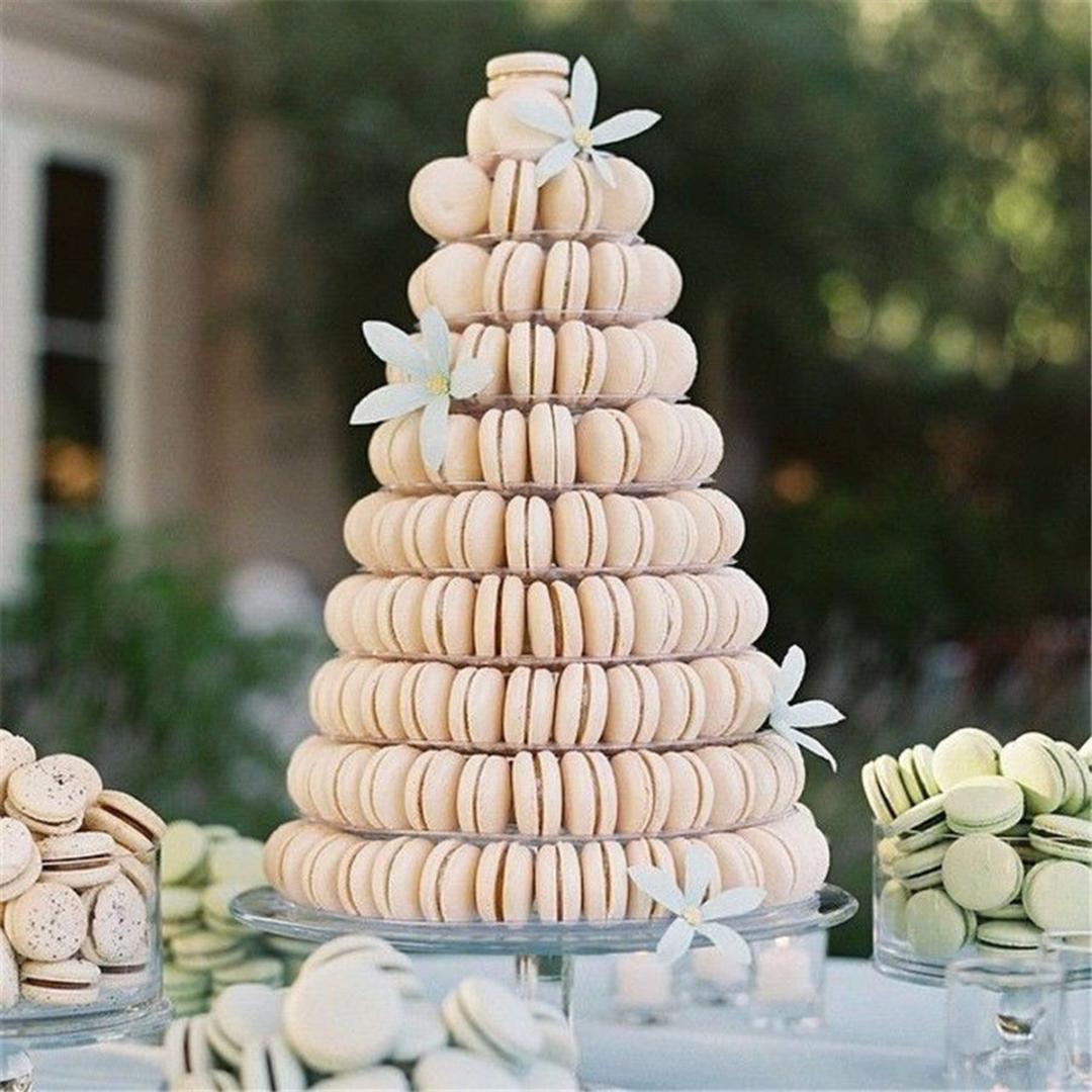 10 Niveaux Ronds Macaron Tour De Gâteau Stand Transparent Macaron Cupcake Présentoir Support Anniversaire Fête De Mariage Décoration