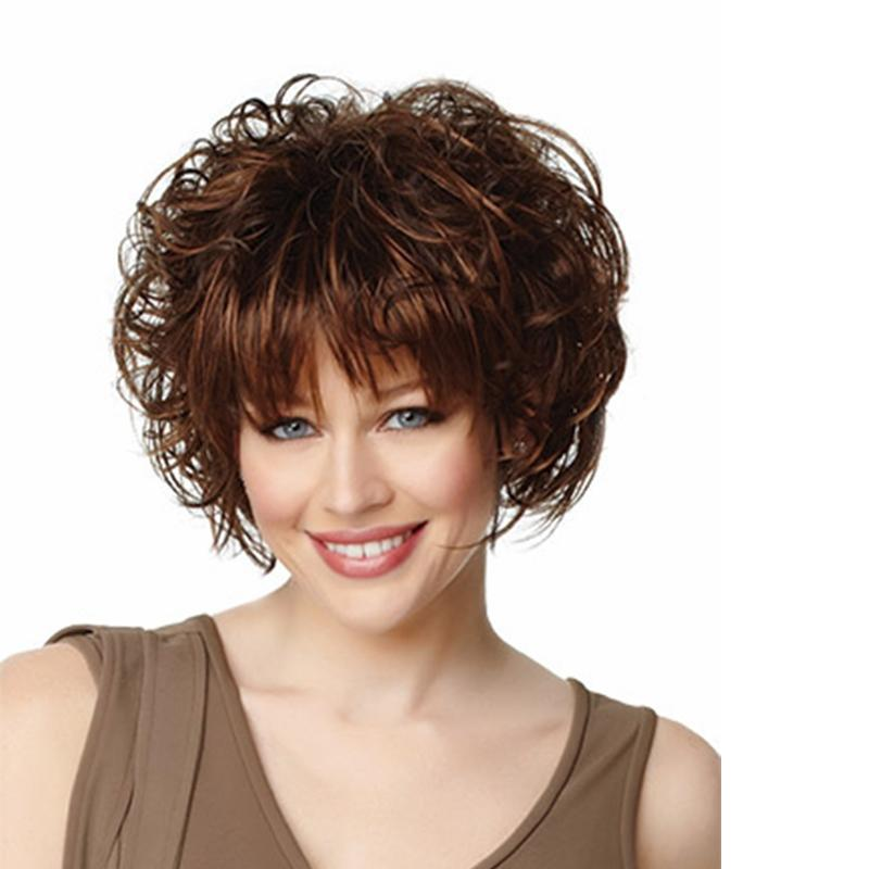 Natural Hair Wig Wig Short Hair Big Curly Hairpieces Short Curls Synthetic  Hair Replacement Wigs Afro Kinky Wigs For Women Brown Wigs Full Lace Wig Uk  From ... a44510445
