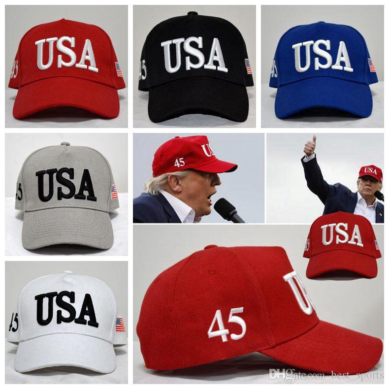 2019 USA Flag Ball Cap Unisex Fashion Adult Adjustable Donald Trump Hat  Snapback Sports Hats Fitted Baseball Caps CCA9120 From Best sports ed5f2834573