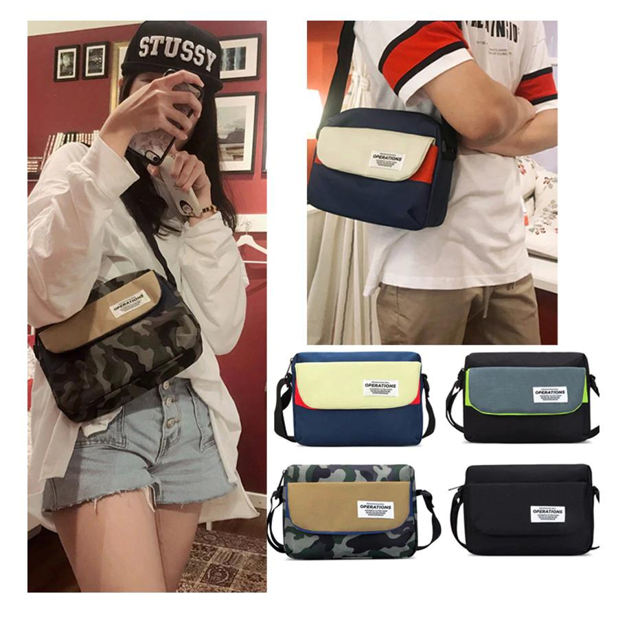 New Messenger Bags Small Bag Fashion Travel Shoulder Bags Female Canvas Briefcase Men/Wonmen Student Crossbody Bag Lady Handbag
