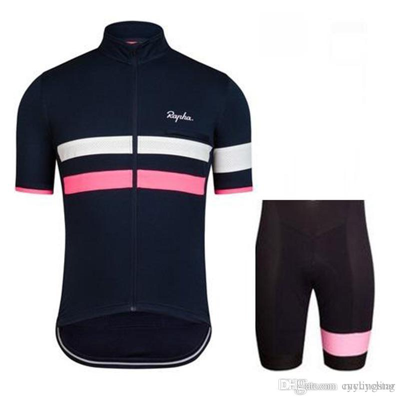 NEW Rapha Cycling Jerseys Set Bike Short Sleeves Clothing Racing ... e53778cf1