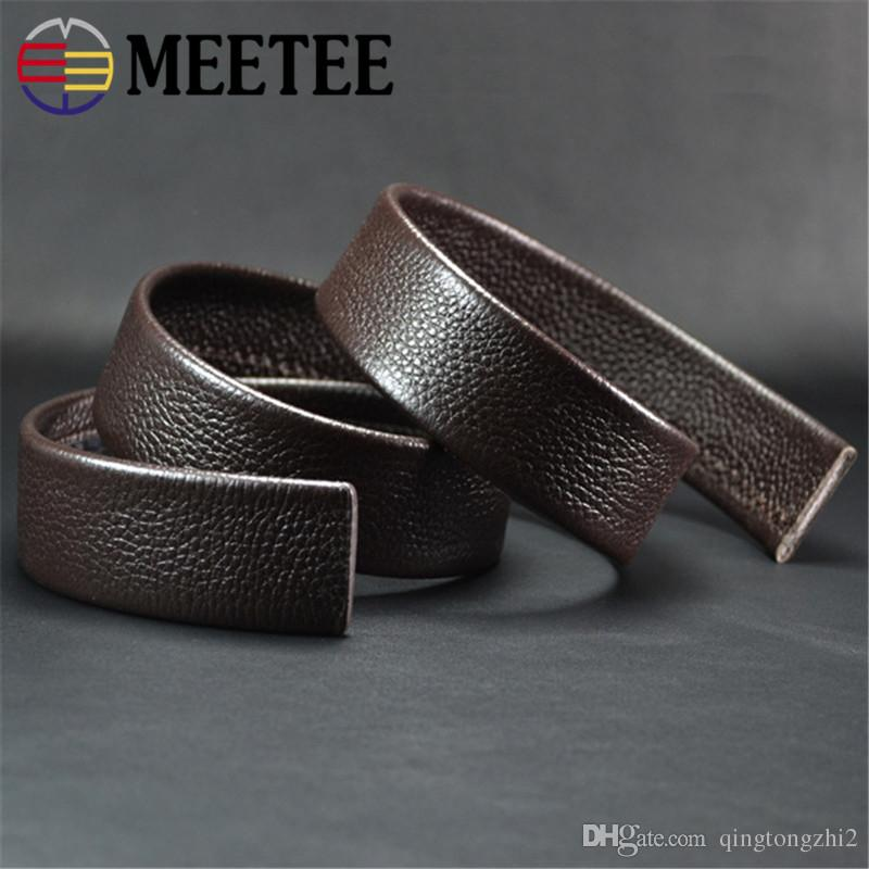Double Sided Available First Layer Of Leather Automatic Buckle Belt Boutique Products Coffee Width 3.5Cm Belt