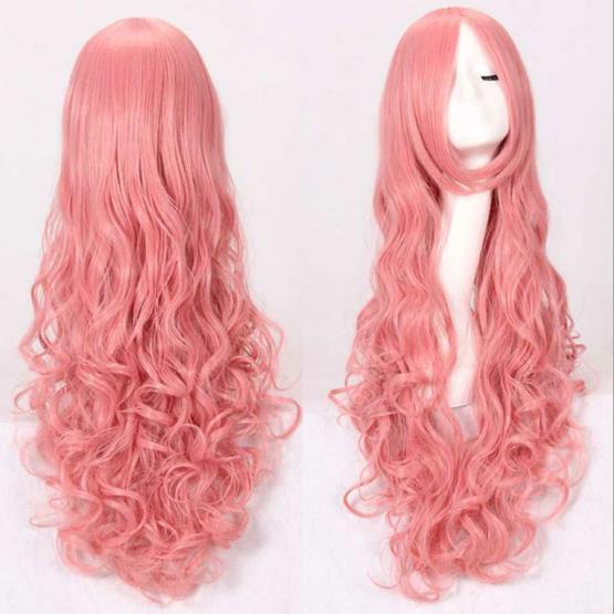 2018 nueva moda pelo largo animación peluca pelo 80cm multicolor Halloween