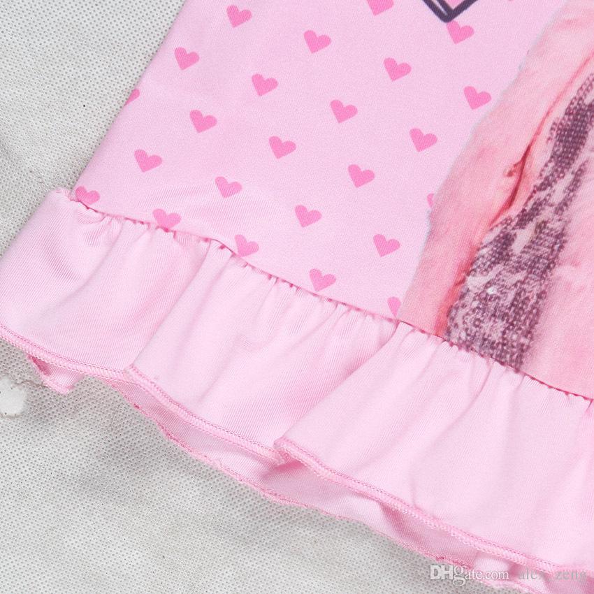 2018 بنات جديدة بيجامة اللباس JOJO فساتين Headbow بنات كم قصير الرئيسية ملابس بنات أحببت بيجامة اللباس لل4-12T