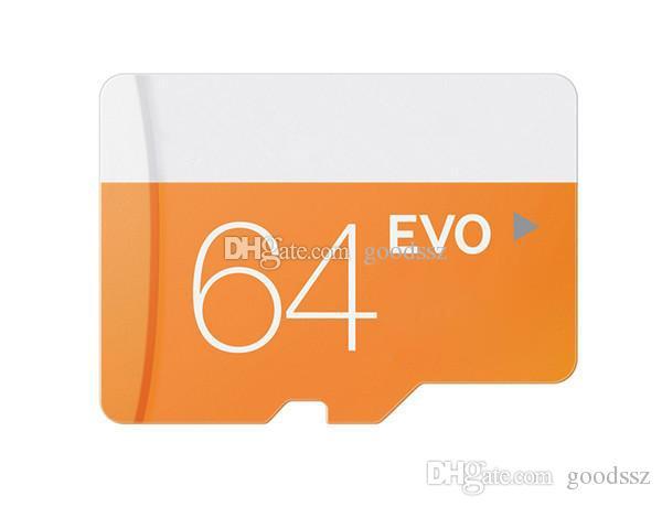 EVO 16GB 32GB 64GB 마이크로 메모리 SD 카드 클래스 10 UHS-1 TF 트랜스 플래시 카드 W / SD 어댑터 밀폐형 패키지