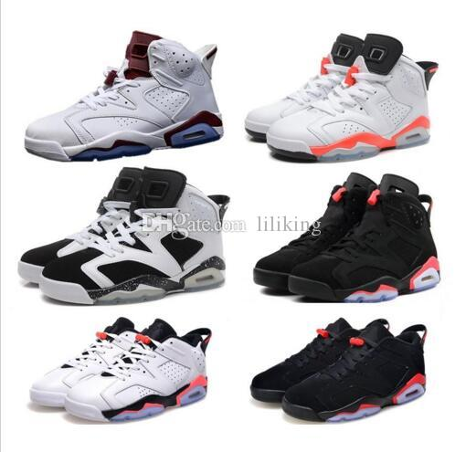 new arrival 72beb 81718 Infrared 6S VI Infrared BG GS best quality Infrared VI OGBlack legend blue  cement Wholesale Basketball Shoes Men women free shipping