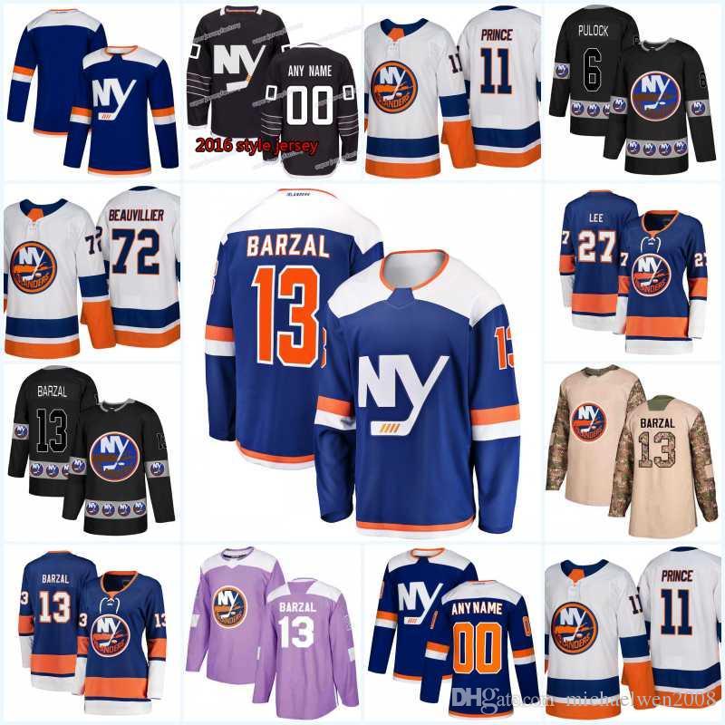 e01cfc088 New Season 4 Thomas Hickey New York Islanders Jersey 2 Nick Leddy 24 Scott  Mayfield 3 Adam Pelech 6 Ryan Pulock 21 Luca Sbisa Hockey Jerseys 4 Thomas  Hickey ...