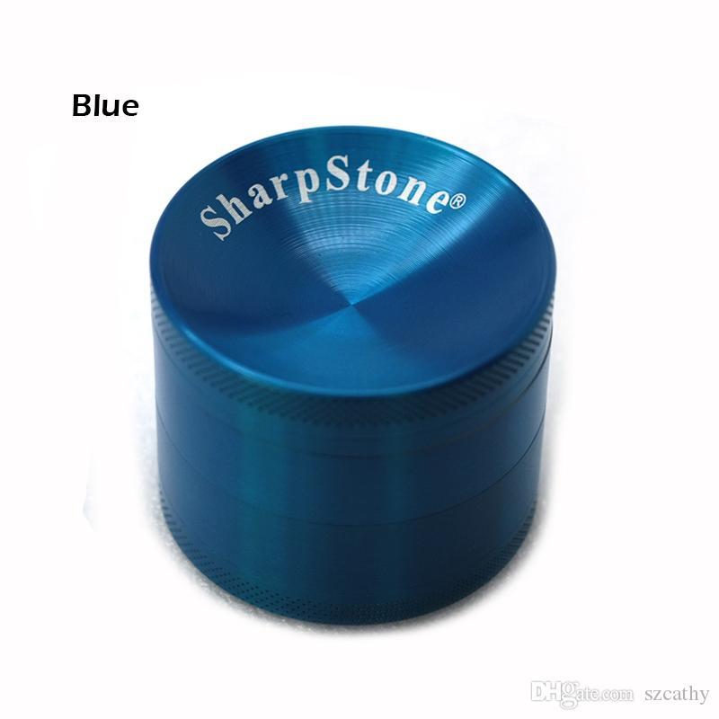 SharpStone Konkav Öğütücüler Kuru Ot Vaporizer Herb Baharat Kırıcı 40mm 50mm 55mm 63mm Metal Öğütücü 4 Katmanlar Çinko Alaşım E Sigaralar