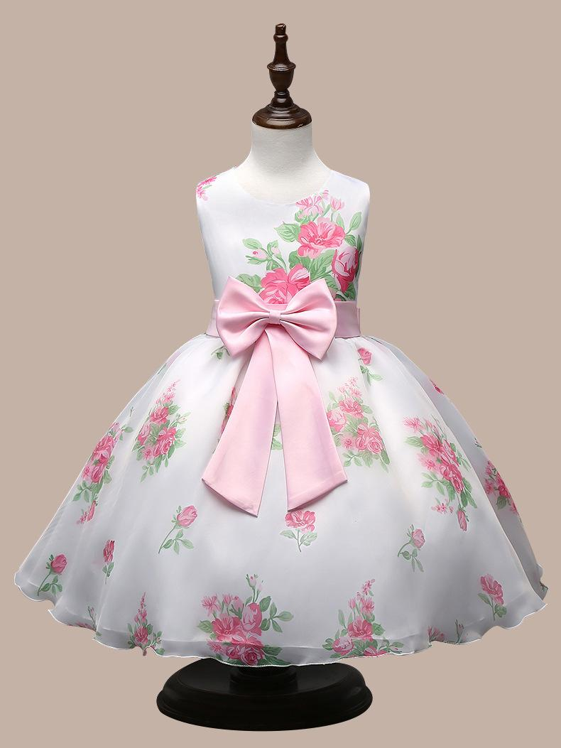 Child S Princess Skirt Popular Women Children Wear Children Princess Skirts Rose  Flower Bow Dress Manufacturer Direct Sale   Wholesale Ivory Girl Dresses ... 210476e999