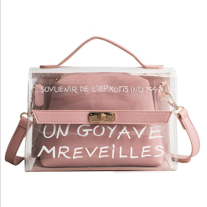 2018 New Fashion Women Jelly Candy Summer Beach Handbag PVC Transparent Shoulder  Bag Woman Messenger Bags Bolsa Feminina 009 Designer Handbags On Sale Black  ... 614e4871dfcd3