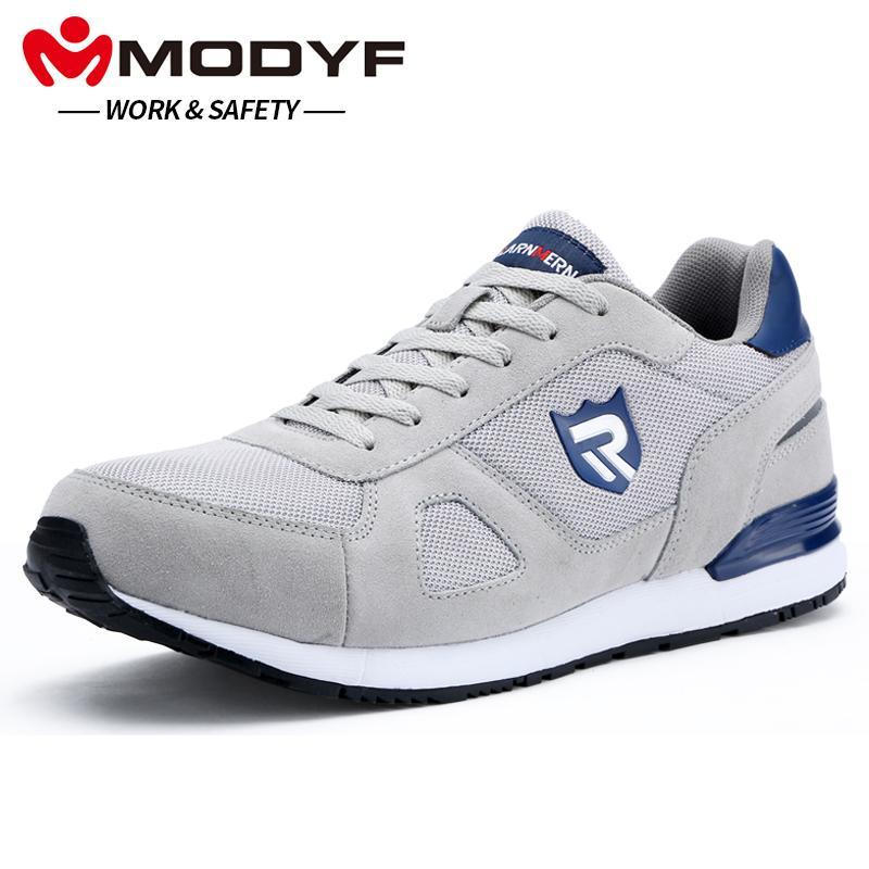 separation shoes 852d9 a5b19 MODYF Männer Stahlkappe Arbeit Sicherheitsschuhe Casual Skateboard Sneaker  Knöchelschutzschuhe
