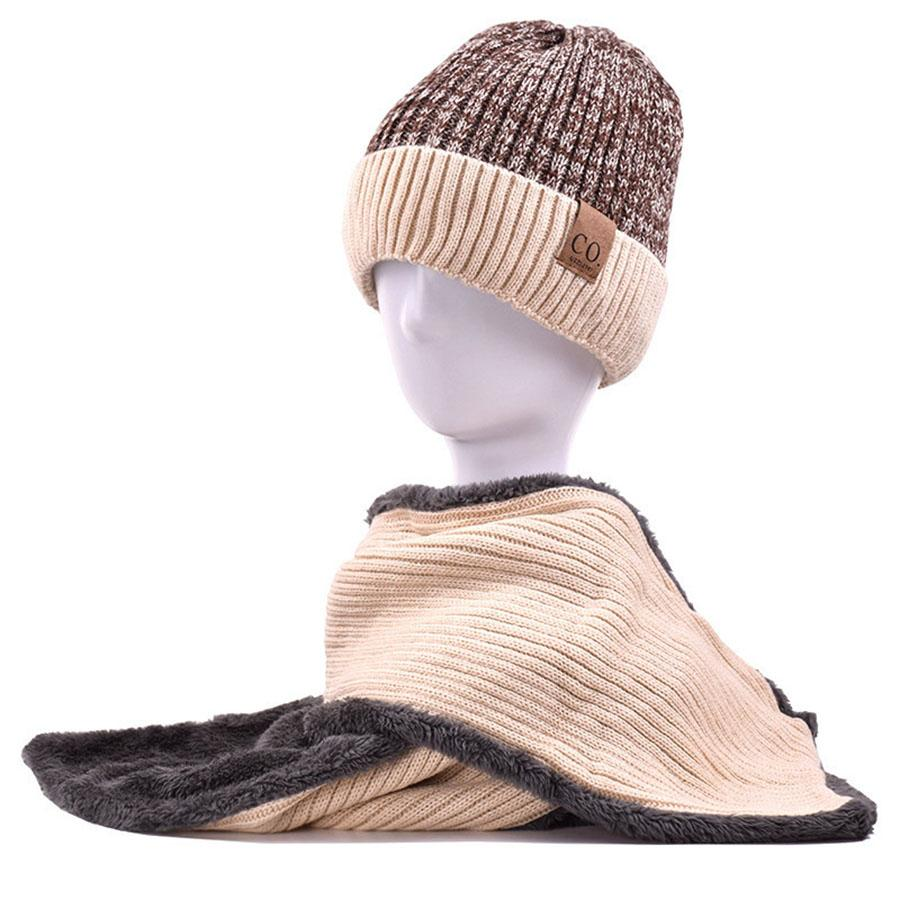 d0b160ccbb7 2019 New Winter Men Hats And Scarves Set CO Soft Cashmere Beanie For Women  Warm Knitted Wrap Lady Patchwork Chemo Hats Girls Skullies From Bensimmons