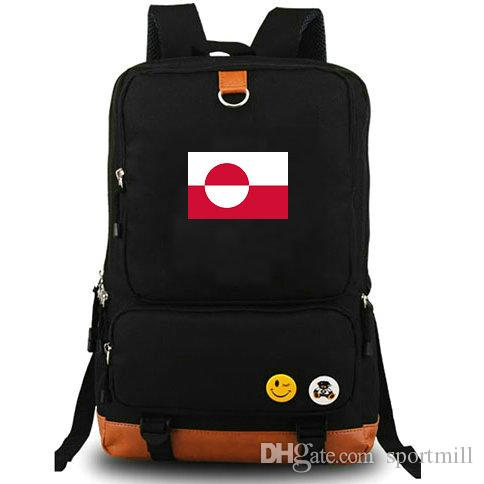 1d7ce90c2594f 2019 Greenland Flag Backpack Ice Cold State School Bag Country Banner  Daypack Quality Schoolbag Outdoor Rucksack Sport Day Pack From Sportmill