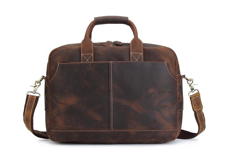 9fdb323dc79e Nesitu Vintage Men Portfolio Genuine Leather Briefcase Messenger Bags  Office Work 14   Laptop Men Leather Shoulder Bag  M1011 Lawyer Briefcase  Hard ...