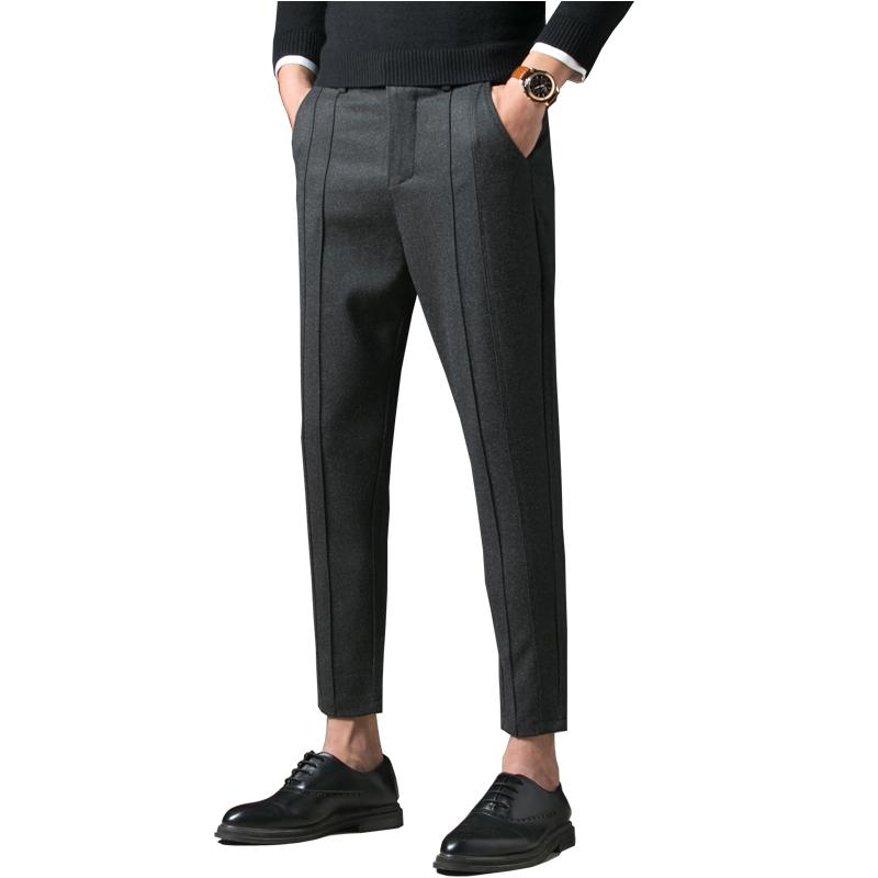 5eae6c8b3ca 2019 2018 New Autumn Winter Pants Men Straight Casual Long Male Smart  Casual Trousers Ankle Length Men Pants From Yanmai