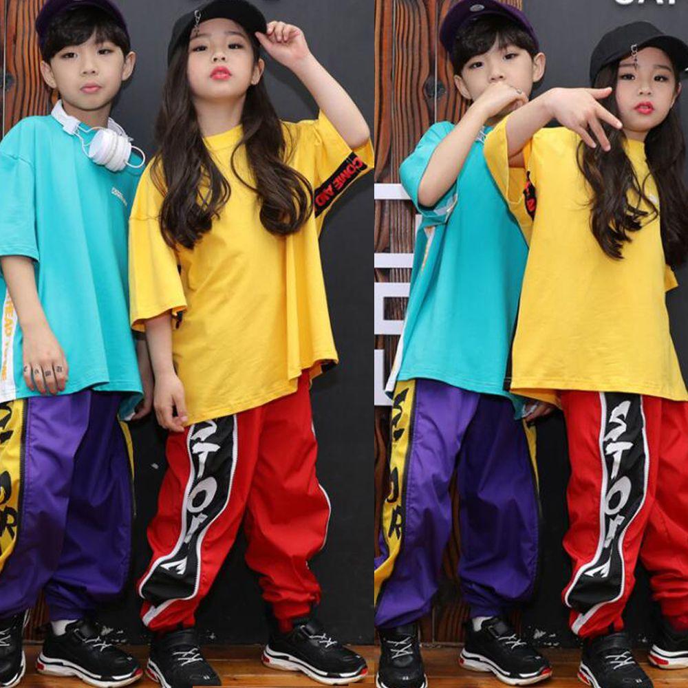 Compre Colores Niñas Niños Loose Cool Ballroom Jazz Hip Hop Dance  Competition Set Tops Pantalones Para Niños Bailando Trajes De Ropa A  25.35  Del Hoeasy ... 7d0dd360c3e