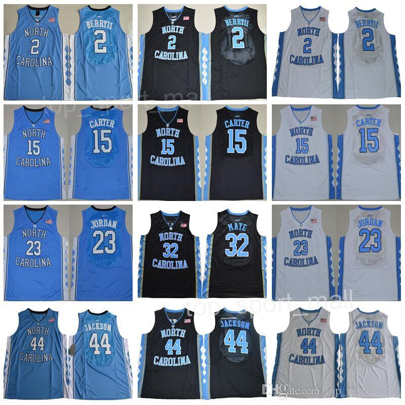 3d1b5831df6d3a 2019 North Carolina Tar Heels Jerseys College Basketball 15 Vince Carter 23  Michael 2 Joel Berry II Justin Jackson Luke Maye Paige Barnes S XXXL From  ...