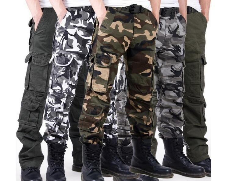 988627966618 Acquista Pantaloni Militari Multitasche Da Uomo Di Lusso Casual Training  Plus Size Cotone Traspirante Esercito Camouflage Cargo Pants Sport All'aria  Aperta ...
