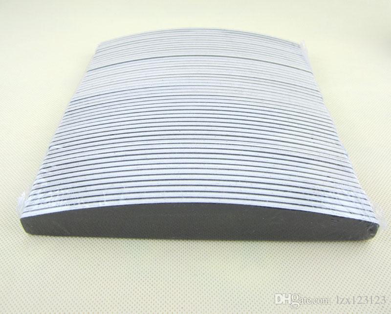 100/180 그릿 네일 파일 / 네일 도구 검은 사포 플라스틱 80/80 에머리 보드