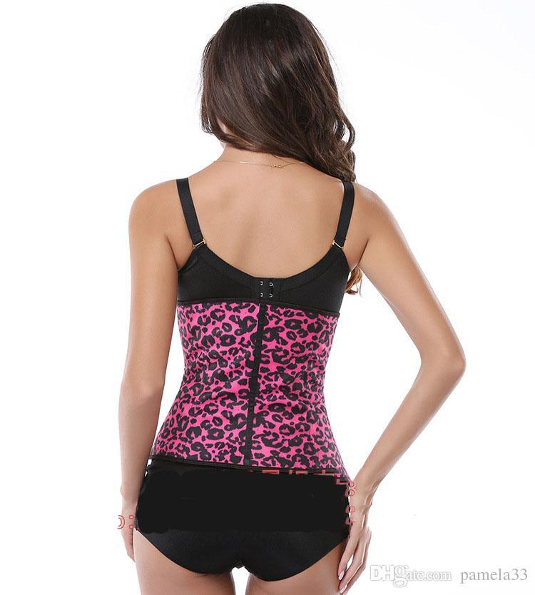 Body Shaper Leopard Minceur taille formateurs formant corset tops lace up overbust corset pour les femmes 3 couleur plus récent motif léopard