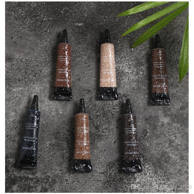 دي إتش إل الحرة الجديدة Handaiyan جل الحواجب 6 ألوان في المخزون ماء التظليل السائل ظلال ذات نوعية جيدة مع هدية