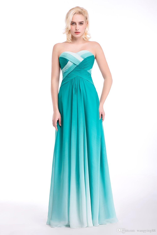 Blue Chiffon Sweetheart Women Evening Dresses Floor-Length Prom Dress Celebrity Dress Pleated Mother of the Bride Dresses