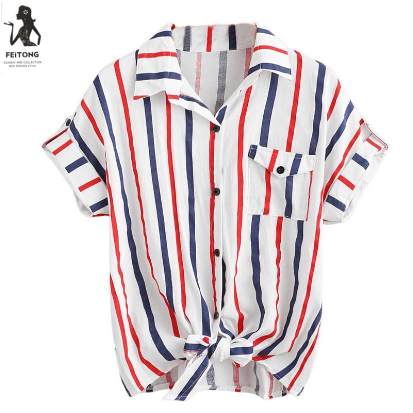 Compre 2019 Mujeres Camisetas De Verano Para Niñas Estilo Coreano Raya Tops  Damas Camisetas Camiseta De Manga Corta Camisa De Mujer Poleras Sueltas  Mujer A ... bea0e7b95a318