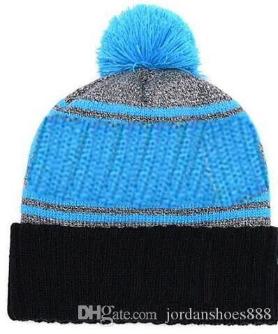 e12c83e6c55 Hot Sale Beanie All Teams Logo Sideline Cold Weather Graphite Official  Revers Sport Knit Hat Winter Warm Knitted Wool Panthers Skull Cap Baby Sun Hat  Knit ...