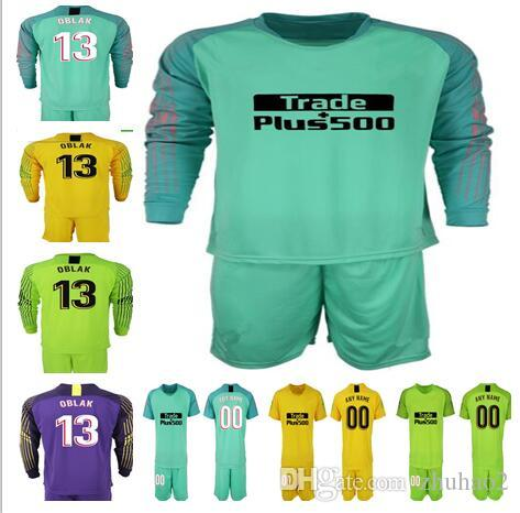 fe6924793 2019 2018 2019 Soccer Goalkeeper Jersey Shirt #13 OBLAK GRIEZMANN KOKE  DIEGO COSTA Jersey Goalie Uniform Adult Kit From Zhuhao2, $17.74 |  DHgate.Com