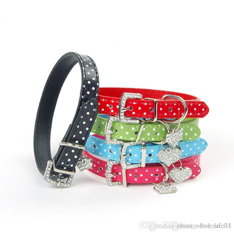 Pets Dog Collar Polka Dot Pattern Dog Accessories For Small Dog