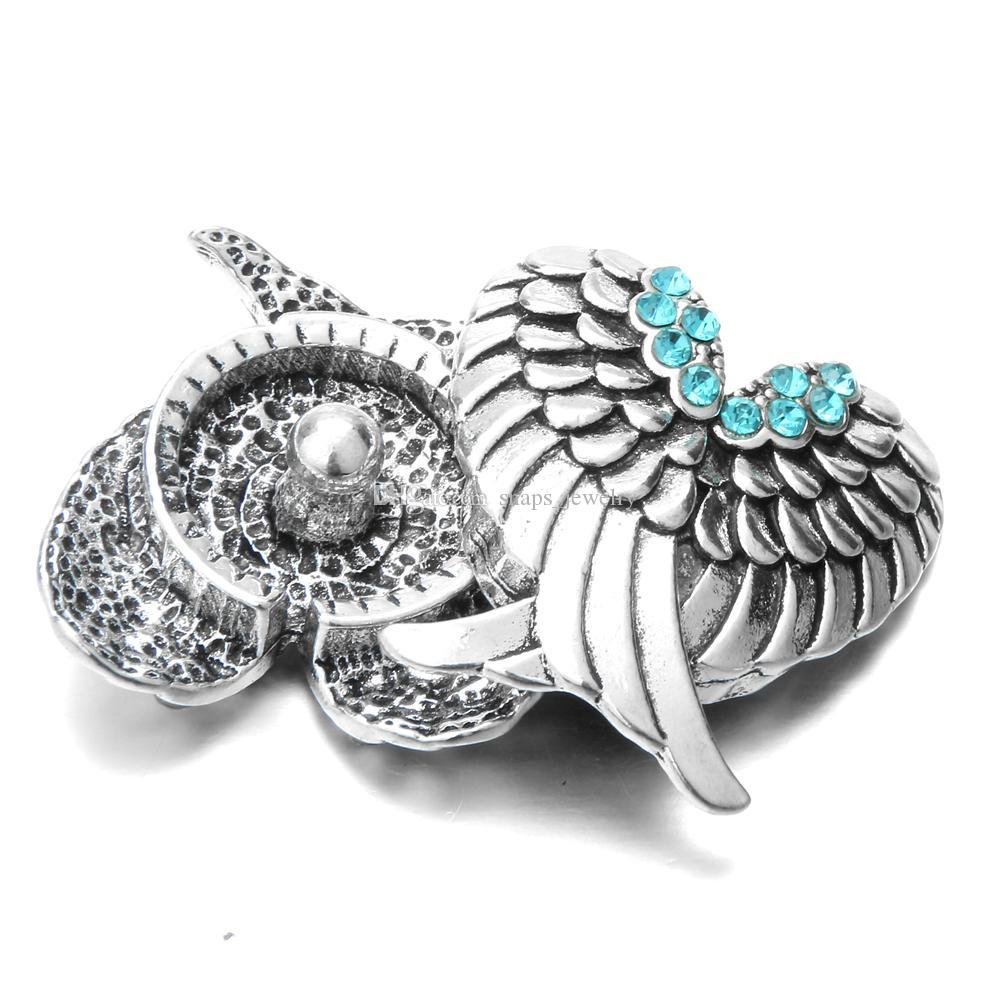 Noosa Ginger Snaps Jewelry Крылья ангела 18-миллиметровые кнопки для бижутерии с ожерельем из браслета