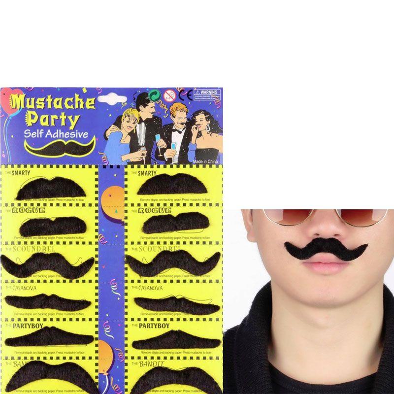 Hot Worldwide /set Costume Party Halloween Fake Mustache Moustache ...