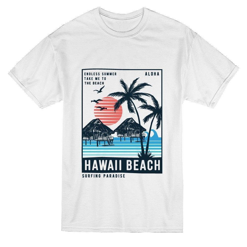8d32490fd2dd Hawaii Beach Postcard Vintage Graphic Tee Image By Shutterstock Mens T Shirt  Summer O Neck 100% Cotton Men Short Best T Shirt Sites T Shirt Shopping  From ...