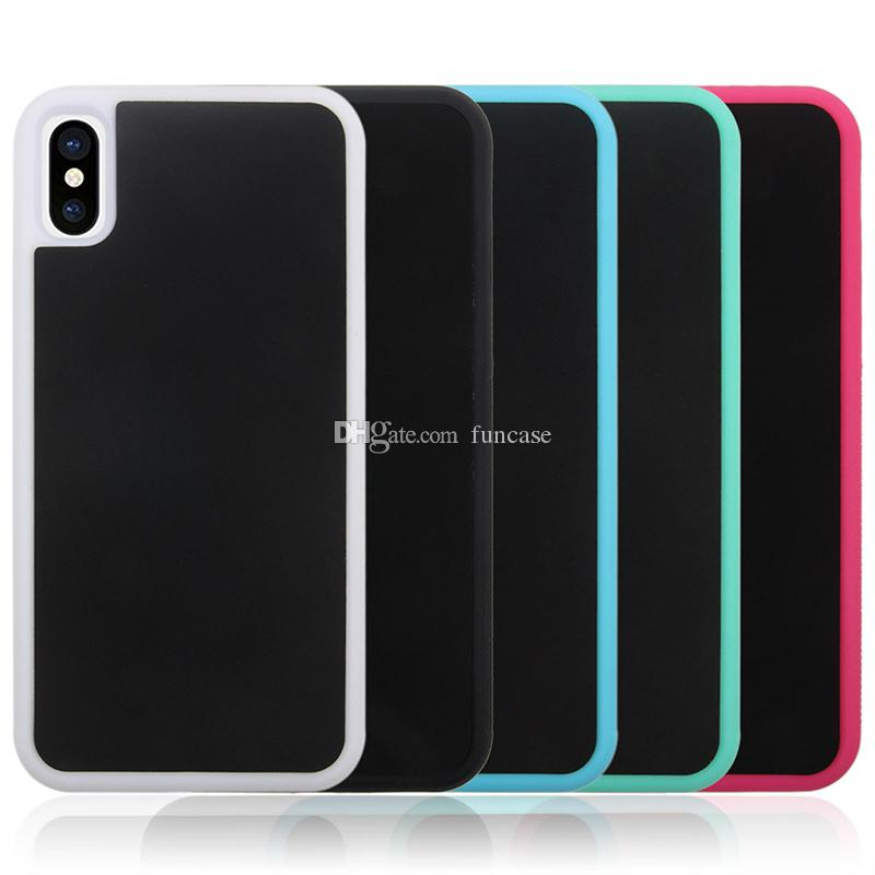 Anti Gravity Selfie Magical Nano Sticky Adsorption Hard Plactic Cover Case For iPhone XS Max XR X 8 7 6 Plus 5 Samsung S10 E S9 S8 S7 Note 9