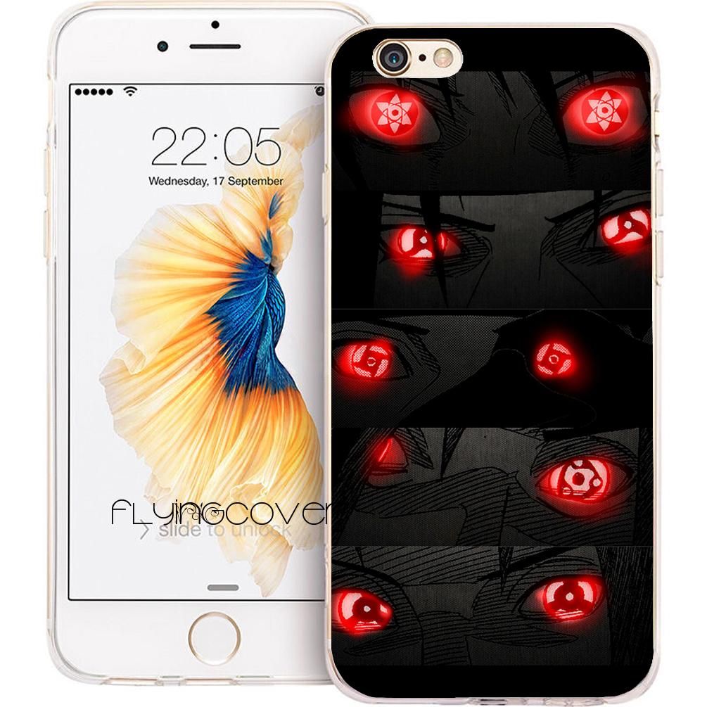 b9ee9ff3261 Fundas Moviles Personalizadas Coque Naruto Eyes Red Cases Para IPhone 10 X 7  8 Plus 5S 5 SE 6 6S Plus 5C 4S 4 IPod Touch 6 5 Claro TPU Cubierta De ...