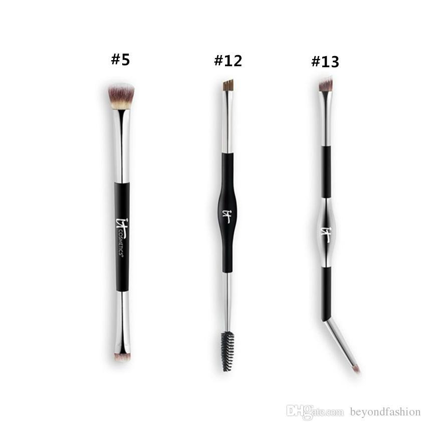 896c5344f Compre Marca Maquillaje Profesional Pinceles Cosméticos Cosmética Pincel De  Sombra De Ojos Luxe # 5 # 12 # 13 Pincel De Contorno De Ojos Que Se Mezclan.