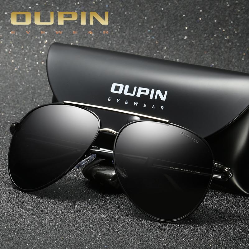 3cbf111941db Oupin Brands Polarized Pilot Sunglasses Men Business Classic High Quality  Sunglasses Block Driving Glare UV400 Goggle Okulary Best Sunglasses For Men  ...