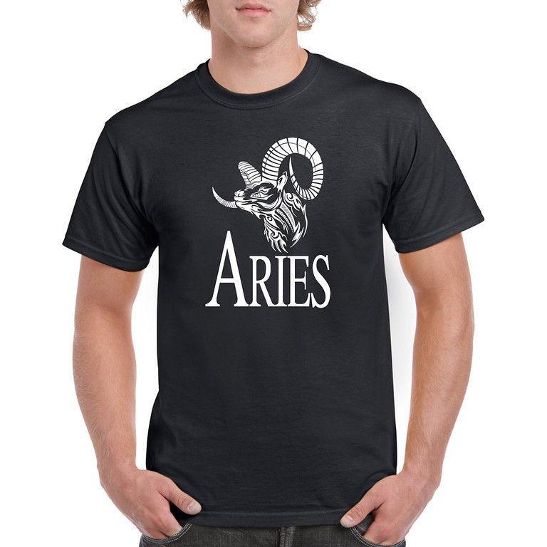 Aries Horoscope T Shirt Love March Birthday Mens Holiday Gift Tee Shirts