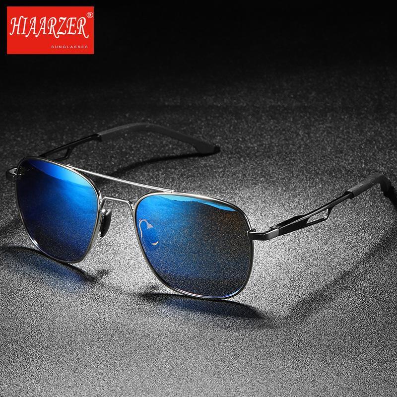 2b7a62ecb5 Compre Gafas De Sol Polarizadas De Alta Calidad Para Hombre Gafas De  Conducción Marco De Aleación Anti Reflejo Espejo UV400 Gafas De Sol Gafas  Para Hombres ...