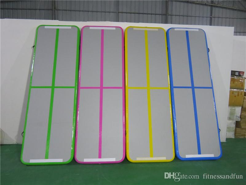 Inflatable Tumbling Gymnastic Air floor Mat Track Cheerleading for Home Use/Cheerleading/Beach/Park and Water Floating Yoga Mat