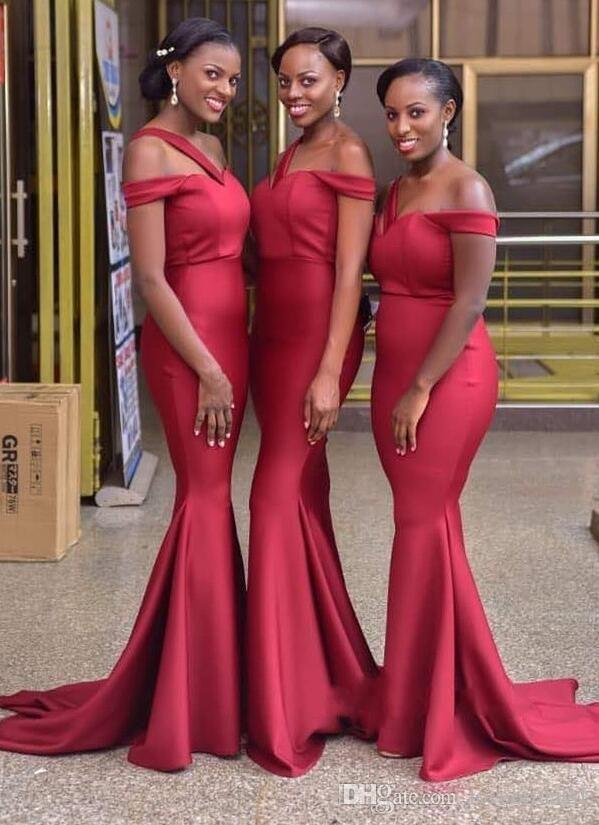 e08e8a8f37 2018 Sexy Red Mermaid Long Bridesmaid Dresses One Shoulder Sweep Train Lace  Up Off Shoulder Wedding Guest Dresses Romantica Bridesmaid Dresses Short  Lace ...