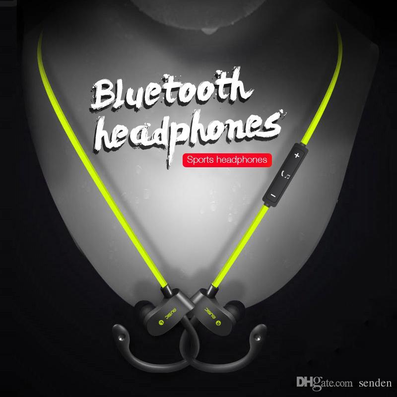 Hot 56S Auriculares Inalámbricos Bluetooth Auriculares Impermeables Auriculares Estéreo Bass Deporte Ear Hook Auriculares Con Micrófono para note8 iphoneX teléfono inteligente