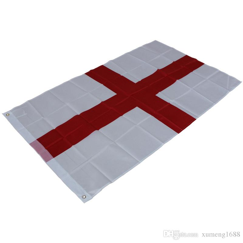 65fccdc5 2019 Flag Of England 3x5 Ft St George'S Cross Red White English National  Banner Saint Parade Festival Outdoor Home Decoration From Xumeng1688, ...