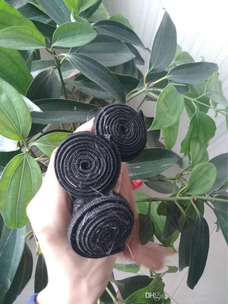 Hot Ombre Cheveux Humains Bundles Indien Ombre Droite # 1B Rose Tissage de Cheveux Humains Ombre Cheveux Weave Bundles