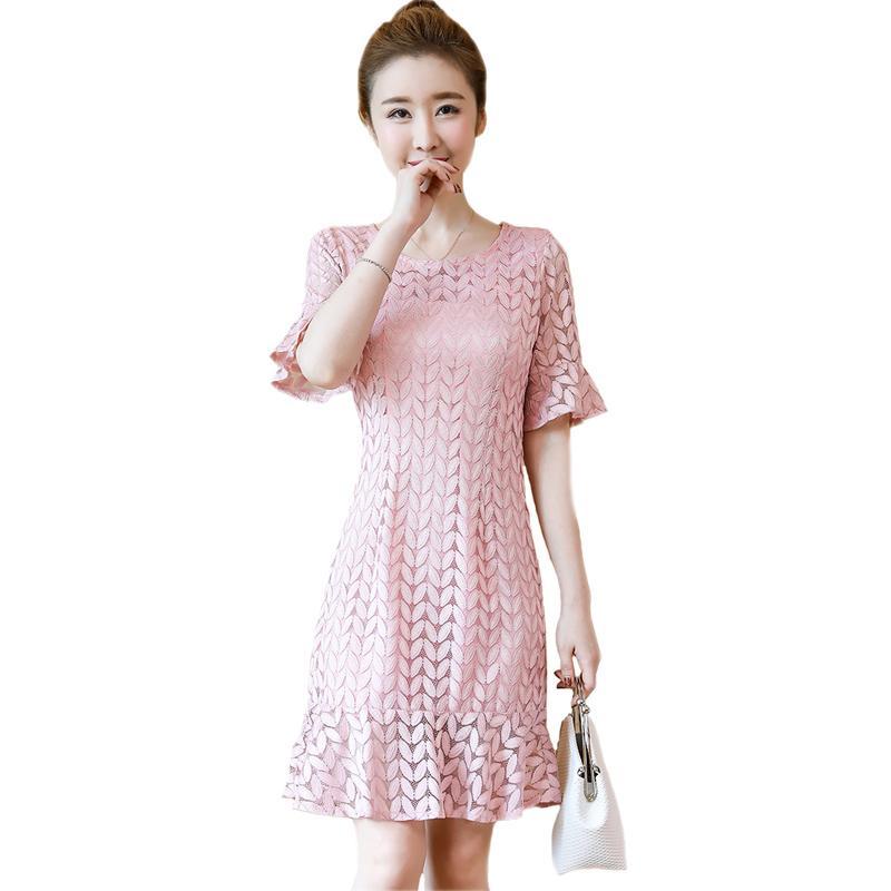 2018 Womens Pink Yellow Black White Casual Summer Dresses Ladies Office  Vintage Lace Dress Elegant Party Dresses Female Vestido Green Junior Dresses  Black ... 37b2c5e1ff