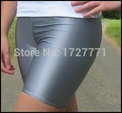 (LS56)Shiny Lycra Spandex Opaque Tights Unisex original Fetish Zentai Leggings Pants