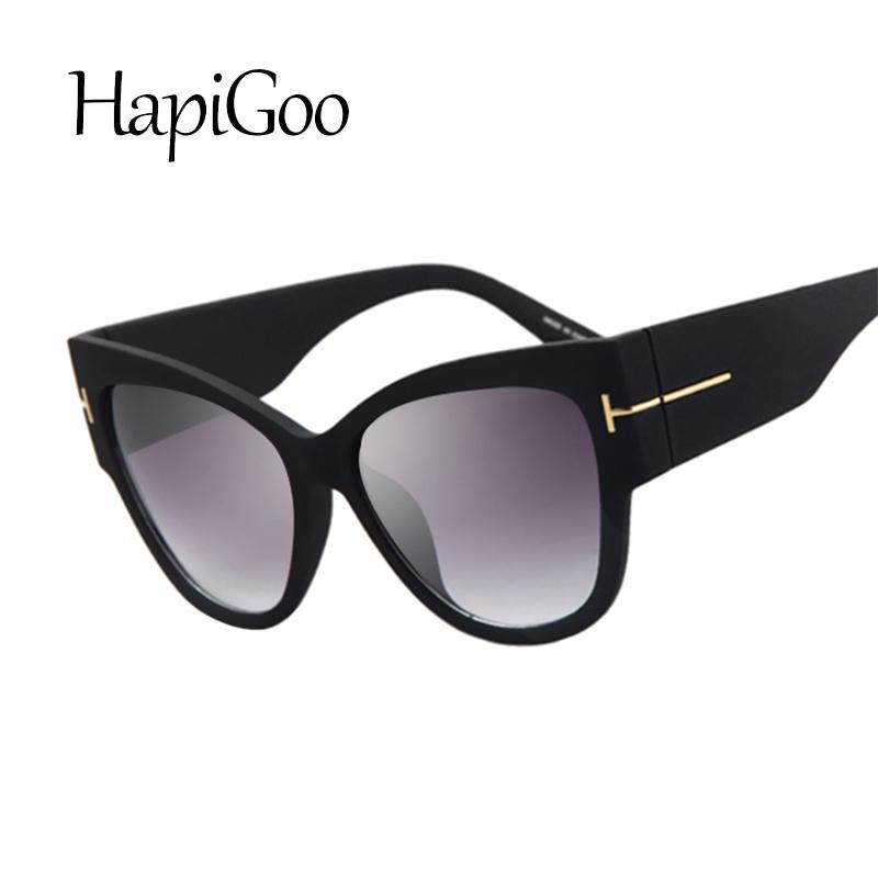 e1b29b58fc6 HapiGOO Fashion Vintage Oversize Cat Eye Gradient Sunglasses Women Brand  Designer Big Frame Sun Glasses For Female Lady Eyewear D18101302 Sunglasses  Sale ...