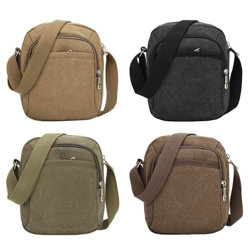 05f6db86c2 Fashion Men Shoulder Crossbody Bag Canvas Mens Handbag Casual Travel Crossbody  Bags Designers Brand Messenger Men S Bags 2018 Crossbody Name Brand Purses  ...