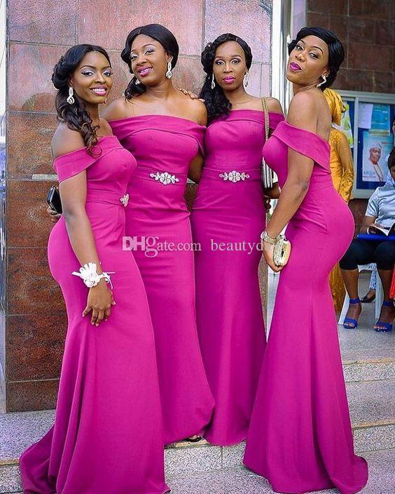 ac9d9b6bdd5 For Nigerian Bridesmaid Dresses 2019 Country Off Shoulder Beach Wedding  Party Guest Dresses Arabic Junior Maid Of Honor Dress Cheap Bridesmaid  Dresses ...